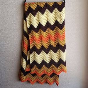 Crochet Handmade ZigZag Chevron Throw Blanket